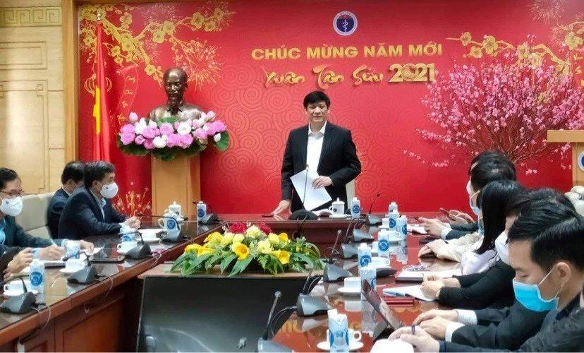Bộ trưởng Bộ Y tế Nguyễn Thanh Long phát biểu tại cuộc họp. - Ảnh: VGP