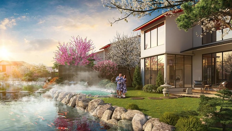 Phối cảnh các villa trong tổ hợp Sun Onsen Village do Sun Group phát triển