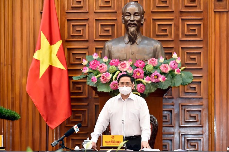 Thủ tướng phát biểu trong buổi họp thường trực của Chính phủ chiều 24/5