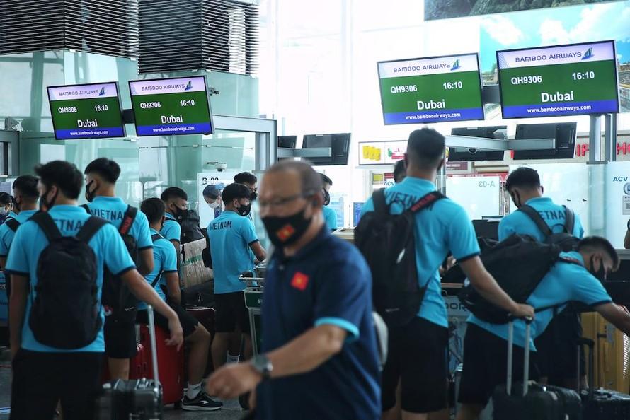 Bamboo Airways bay thẳng đưa đội tuyển Việt Nam sang UAE thi đấu vòng loại World Cup 2022