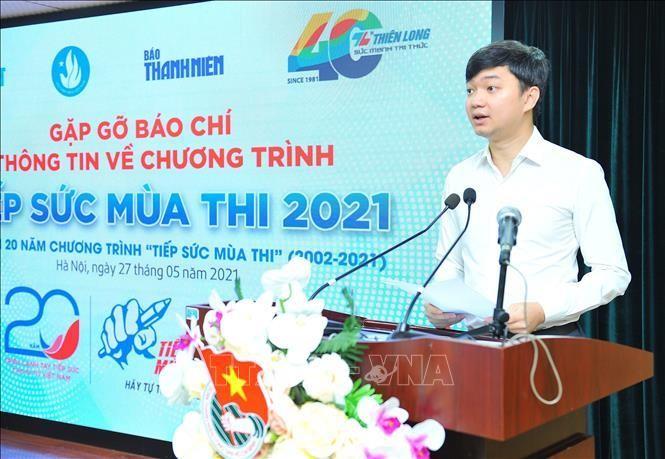 Đại diện Trung ương Hội Sinh viên Việt Nam phát biểu trong buổi họp báo