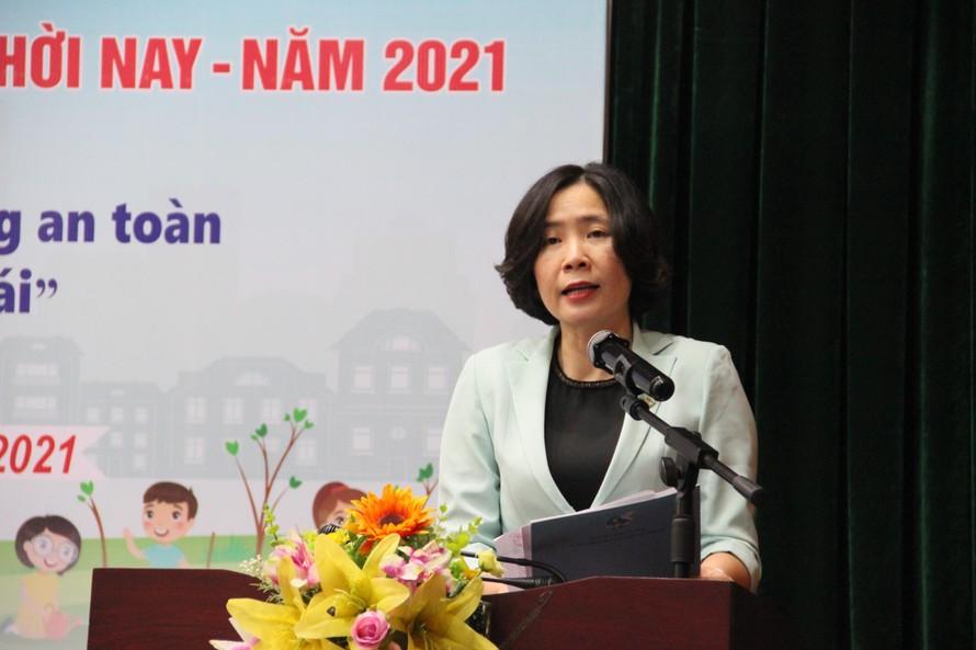 Bà Lê Kim Anh - Chủ tịch Hội LHPN Hà Nội phát động Cuộc thi