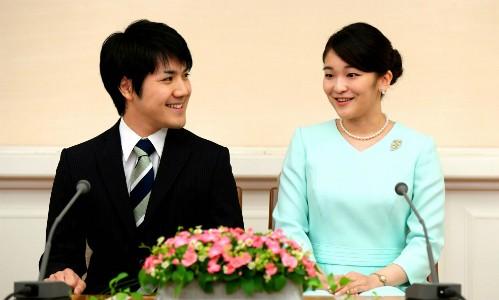 Công chúa Mako và hôn phu Kei Komuro. Ảnh: Asahi Shibum.