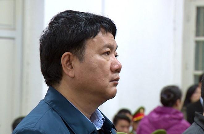 Ông Đinh La Thăng tại tòa. Ảnh: D.P
