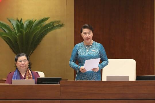 Chủ tịch Quốc hội Nguyễn Thị Kim Ngân điều hành phiên chất vấn của Quốc hội chiều 6-6.
