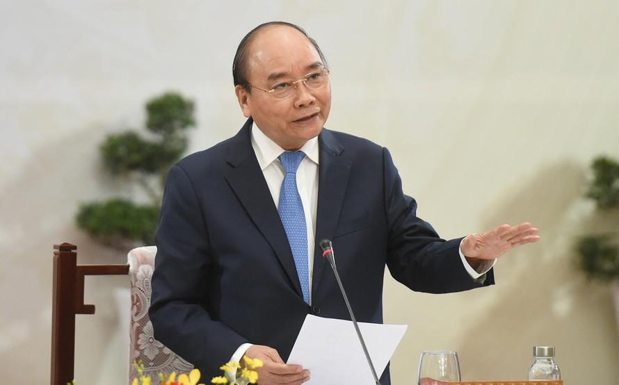 Thủ tướng Nguyễn Xuân Phúc: Đến 2045, sẽ xuất hiện các tập đoàn khổng lồ mang tên Việt Nam. - Ảnh: VGP/Quang Hiếu