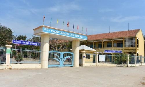 Trường THCS Long Hòa. Ảnh: Tuổi Trẻ