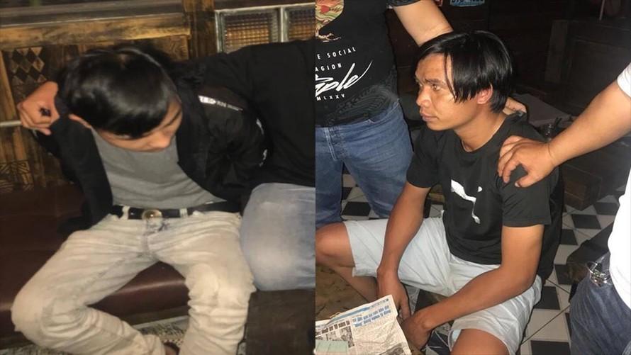 Các đối tượng bị bắt giữ tại hiện trường. Ảnh: VietNamNet