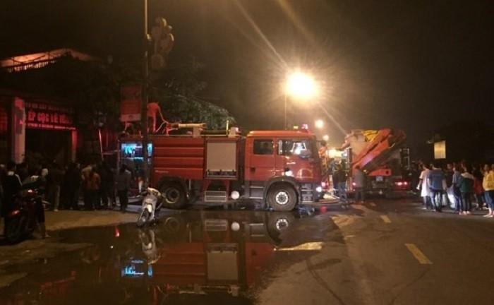 Hiện trường vụ hỏa hoạn. Ảnh: VTC News