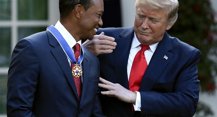 Tiger Woods được Tổng thống Trump tặng Huân chương Tự do
