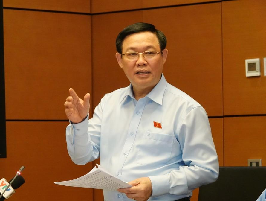 Phó Thủ tướng Vương Đình Huệ phát biểu tại phiên họp tổ. Ảnh: VGP