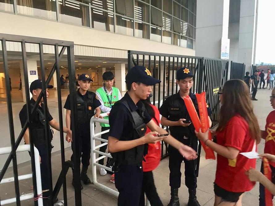 Tăng cường an ninh tại SVĐ Mỹ Đình trong hai trận đấu của đội tuyển Việt Nam