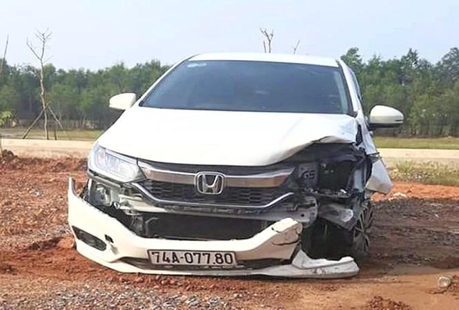 Chiếc xe gây tai nạn. Ảnh: Tiền Phong