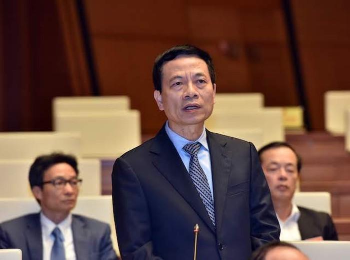 Bộ trưởng Thông tin và Truyền thông Nguyễn Mạnh Hùng. Ảnh: VGP