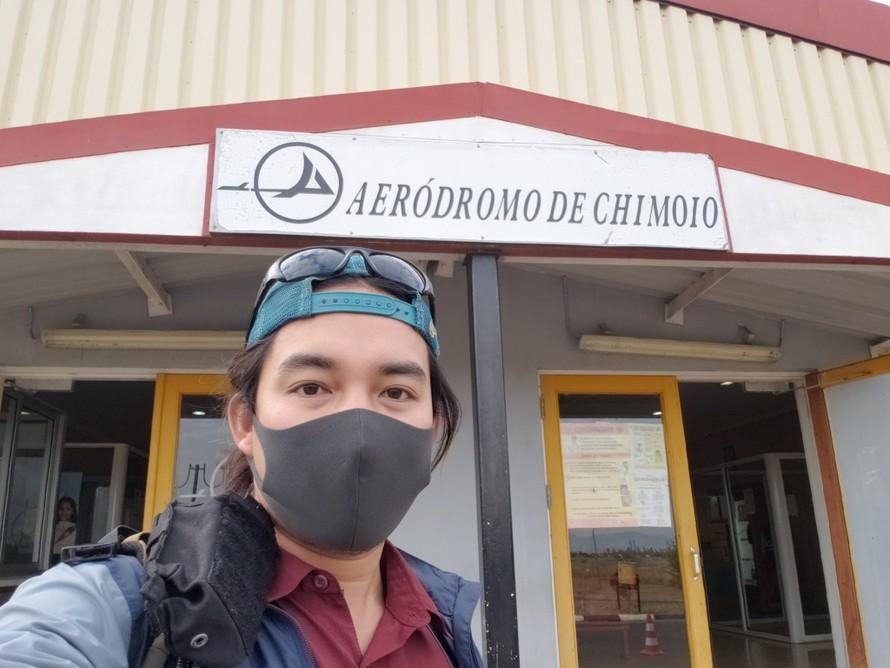 Trần Đặng Đăng Khoa thông báo anh đã lên máy bay về nước sau hơn 3 năm đi vòng quanh thế giới. Ảnh: Facebook nhân vật