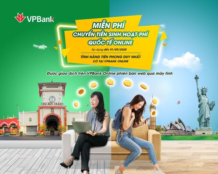VPBank miễn phí chuyển tiền sinh hoạt quốc tế cho du học sinh