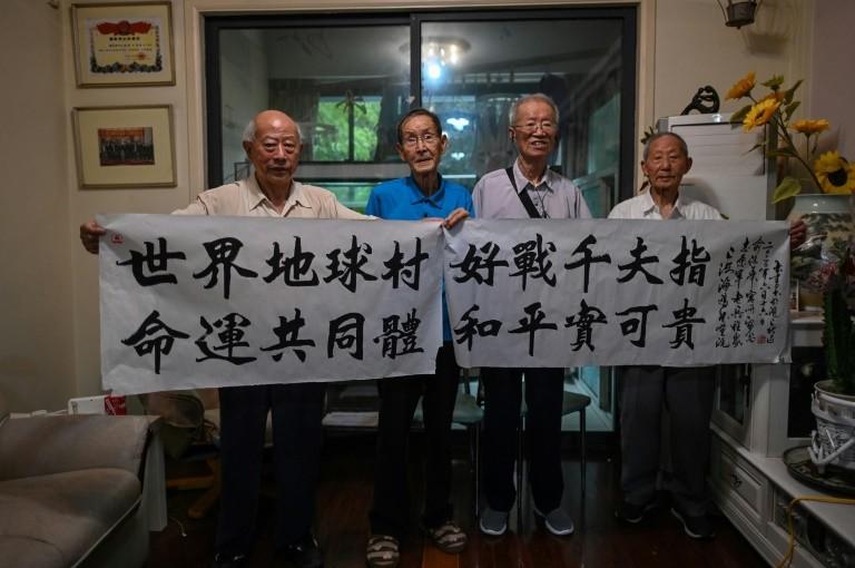 Các cựu chiến binh thuộc Chí nguyện quân nhân dân Trung Quốc. Ảnh: AFP