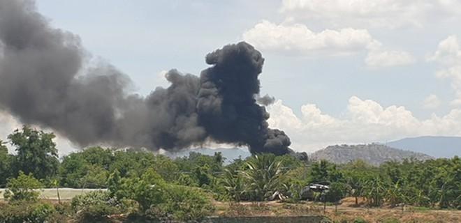 Hỏa hoạn tại sân bay quân sự Thành Sơn