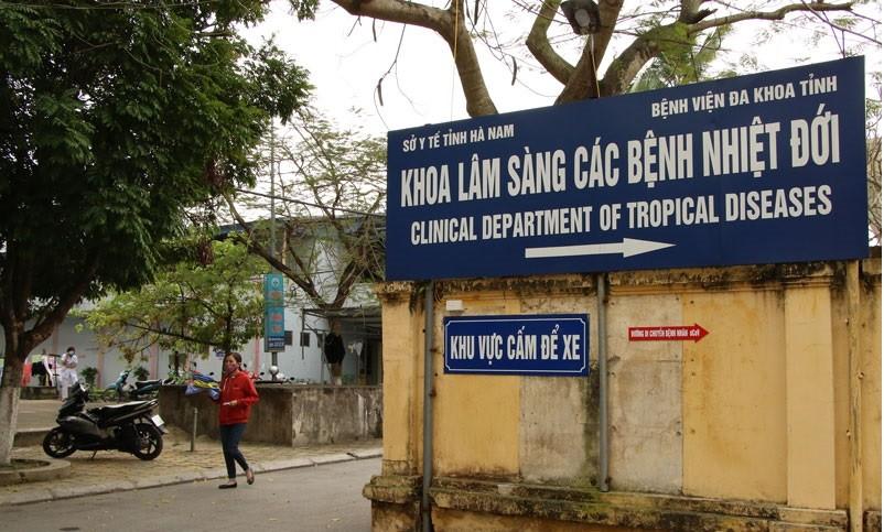 Khu vực cách ly, điều trị bệnh nhân mắc COVID-19 ở Hà Nam