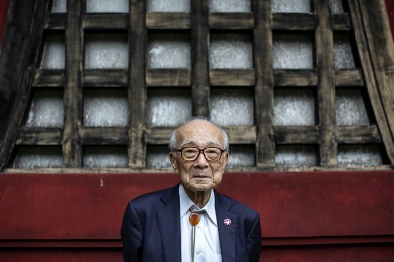 Ông Terumi Tanaka, 88 tuổi, sống sót sau vụ đánh bom Nagasaki. Ảnh: AFP