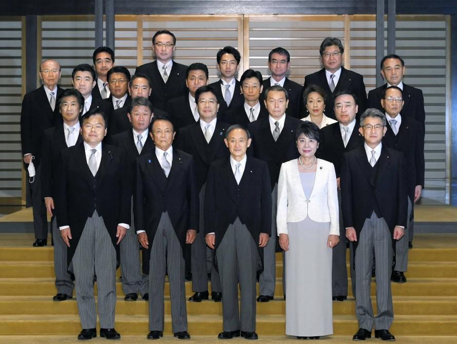 Nội các mới của Nhật Bản. Ảnh: Kyodo