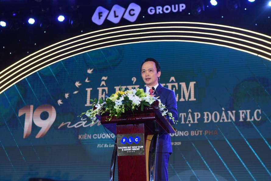 Chủ tịch FLC phát biểu tại sự kiện.