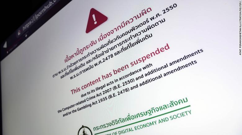 Thái Lan cấm hàng loạt các web khiêu dâm