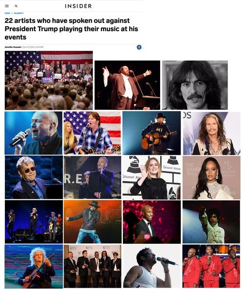 Chuyện nghệ sĩ và bầu cử Mỹ quốc