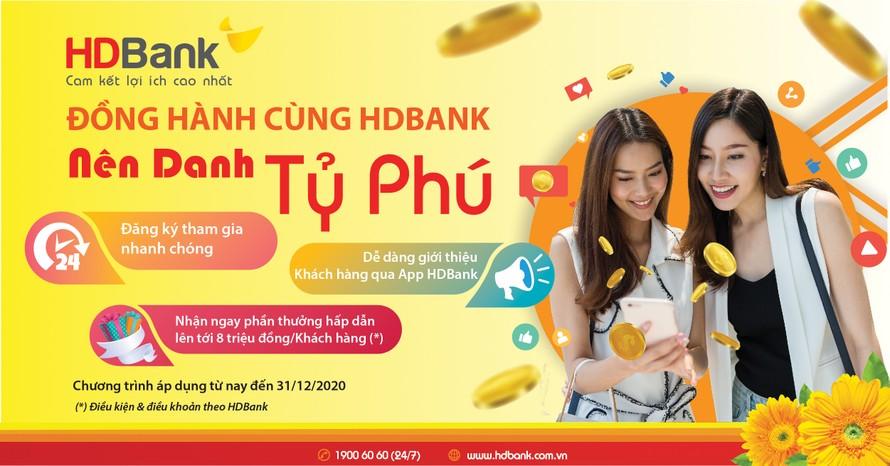Giao dịch tại HDBank, đón cơ hội nhận quà, trúng thưởng lên tới 7,5 tỷ đồng