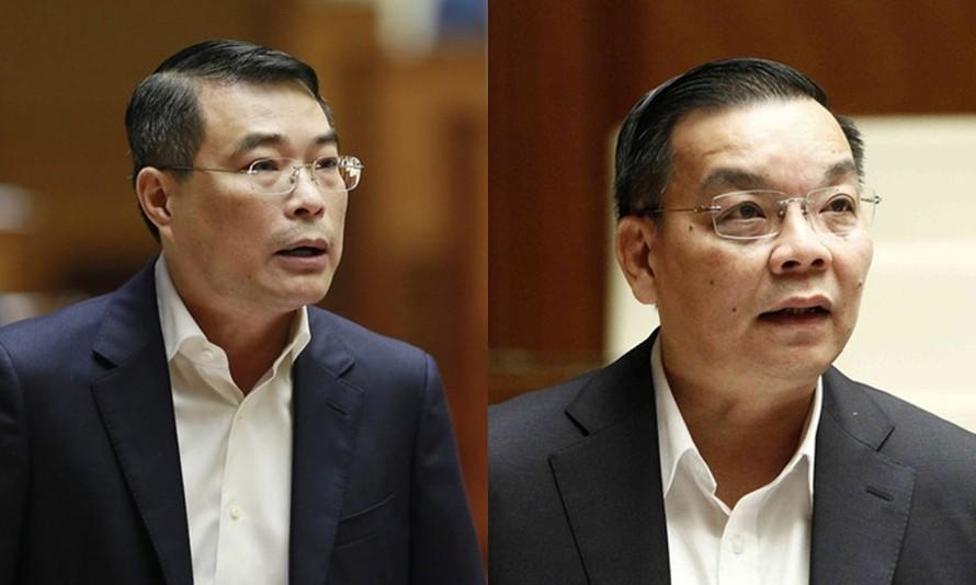 Ông Lê Minh Hưng (trái) và ông Chu Ngọc Anh (phải).
