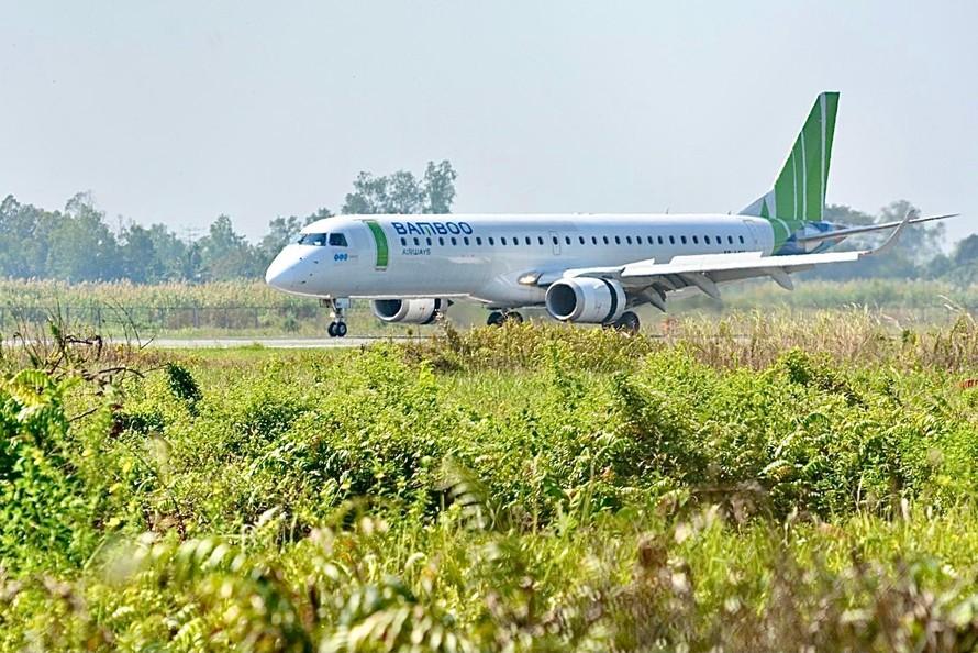Chuyến bay QH2182 đánh dấu sự kiện khai trương hai đường bay: Cần Thơ - Côn Đảo và Cần Thơ - Phú Quốc của Bamboo Airways.