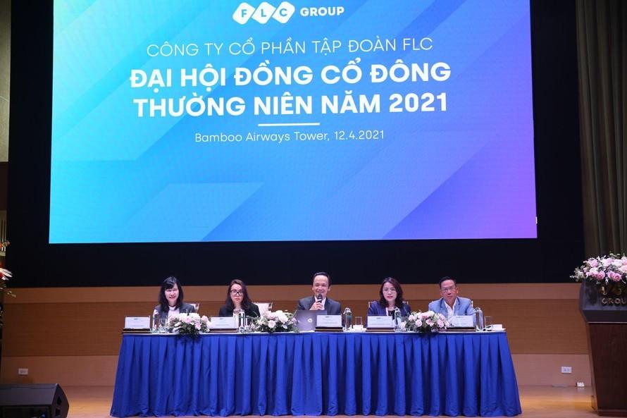 Ban chủ tọa Đại hội đồng cổ đông thường niên Tập đoàn FLC năm 2021.