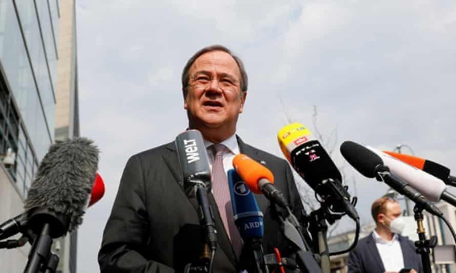 Thủ hiến bang North Rhine-Westphalia và người đứng đầu đảng Liên minh Dân chủ Cơ đốc giáo Đức, Armin Laschet, đã giành chiến thắng trong cuộc bầu cử nội bộ. Ảnh: Reuters