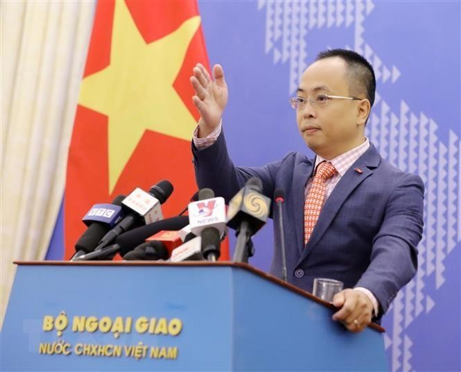Phó Phát ngôn viên Bộ Ngoại giao Đoàn Khắc Việt. Ảnh: TTXVN