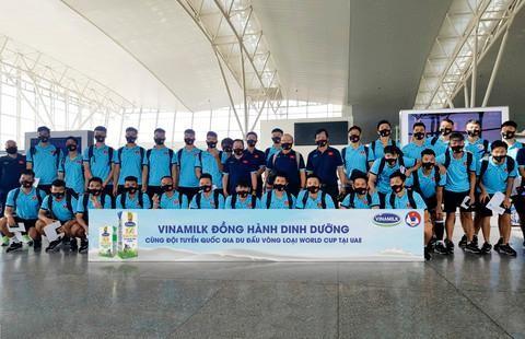 Sản phẩm Vinamilk đồng hành cùng đội tuyển Việt Nam.