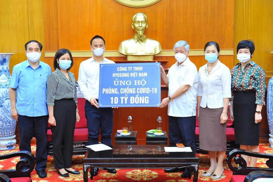 Tập đoàn Hyosung ủng hộ Quỹ phòng, chống COVID-19 32 tỷ đồng