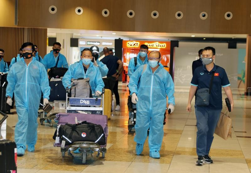 Đội tuyển Việt Nam sẽ cách ly y tế trong 7 ngày