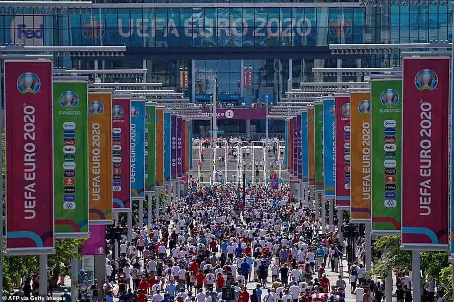 Trái ngược trong cách tổ chức Euro 2020 tại Vương Quốc Anh