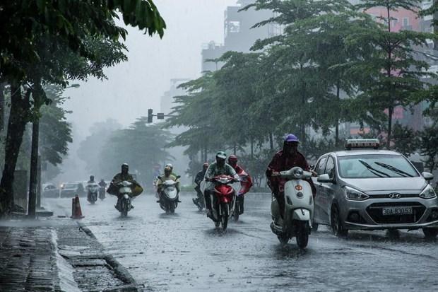 Bắc Bộ và Bắc Trung Bộ mưa dông cuối ngày