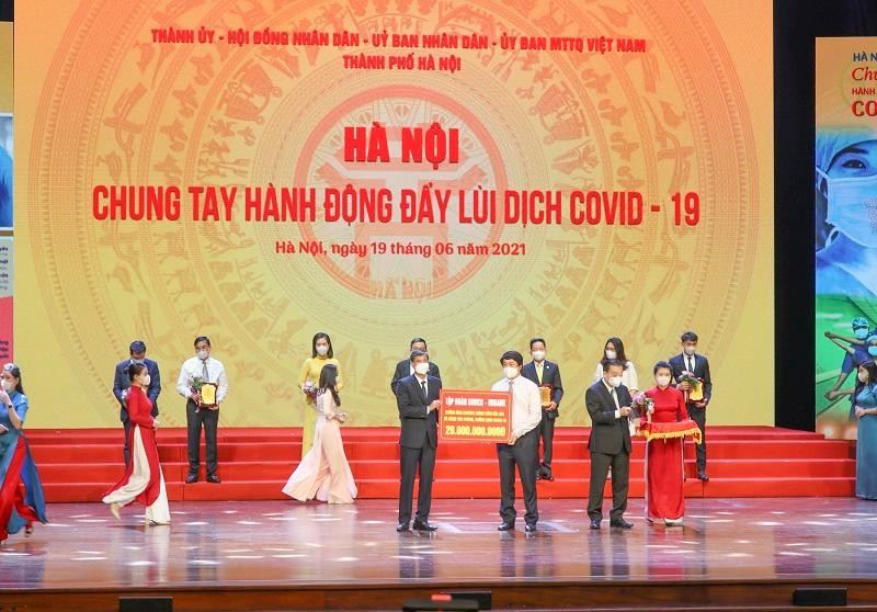 HDBank trao tặng 20 tỷ đồng hỗ trợ Hà Nội phòng, chống dịch Covid-19