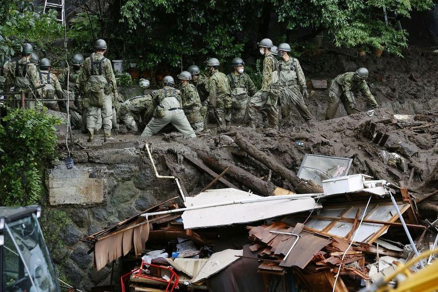 Lở đất tại Nhật Bản khiến 80 người mất tích