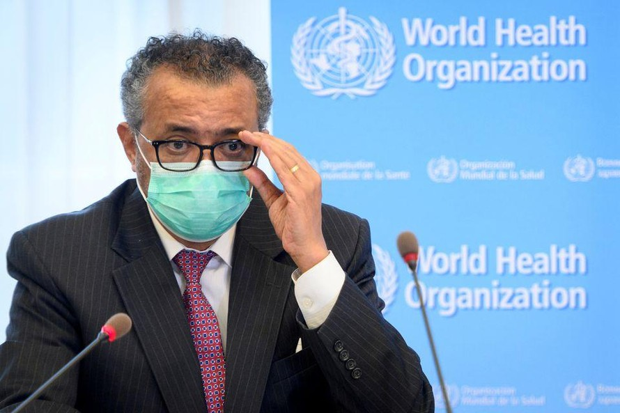 Tổng giám đốc WHO Tedros Adhanom Ghebreyesus. Ảnh: Reuters