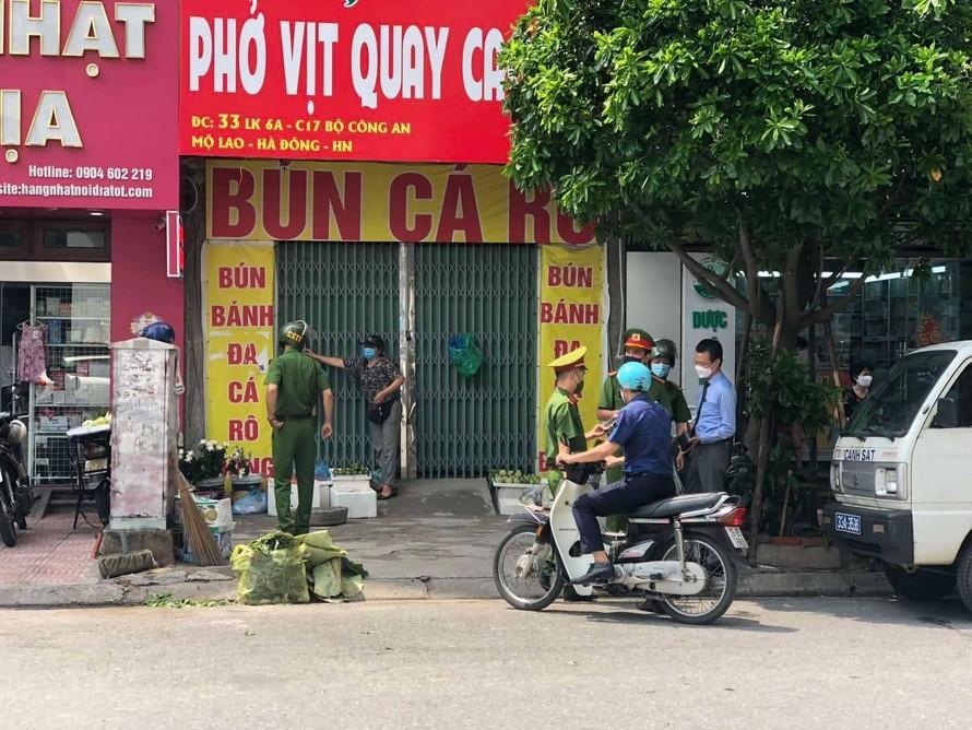 Hà Nội xử phạt 291 trường hợp vi phạm các quy định giãn cách xã hội