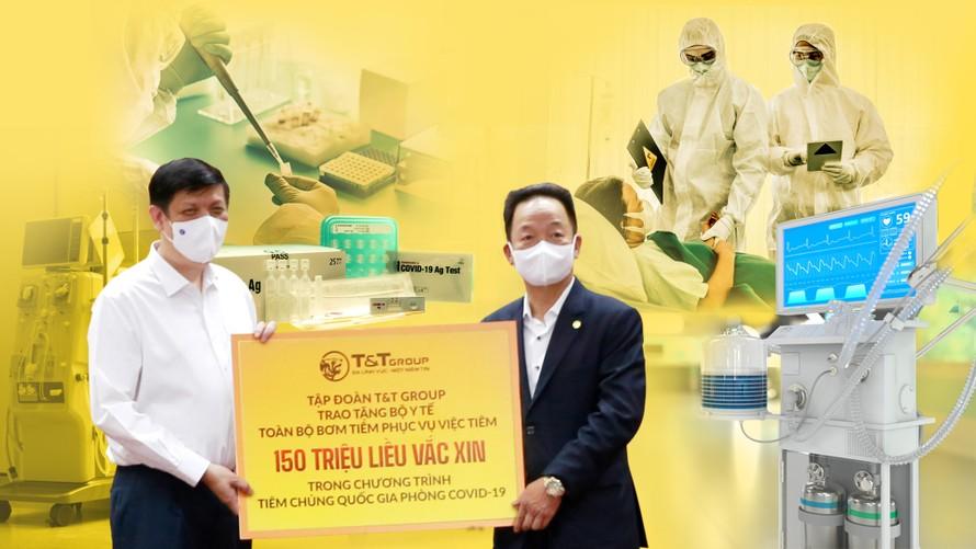 Từ khi dịch COVID-19 bùng phát, Tập đoàn T&T Group đã tài trợ, hỗ trợ nhiều trang thiết bị, vật tư y tế cho Bộ Y tế và các địa phương.
