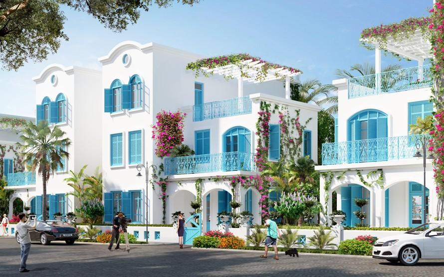 Không gian kiến trúc ấn tượng tại những dãy biệt thự FLC Quảng Bình.