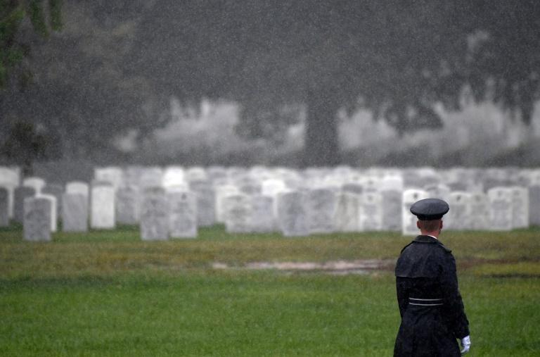 Nghĩa trang Quốc gia Arlington, nơi chôn cất những binh sĩ Mỹ thiệt mạng trong các cuộc chiến ở Iraq và Afghanistan. Ảnh: AFP