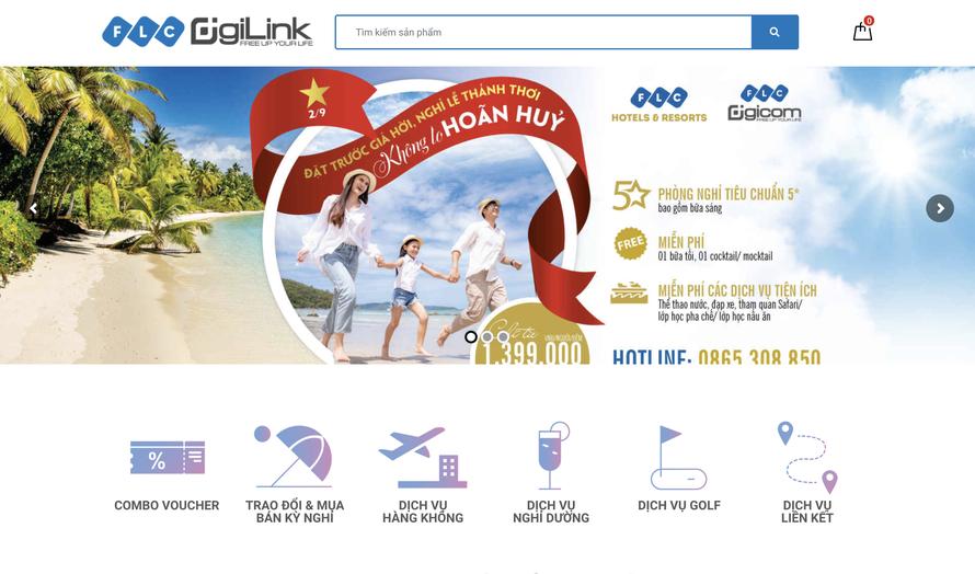 Giao diện Sàn giao dịch Thương mại điện tử DigiLink.