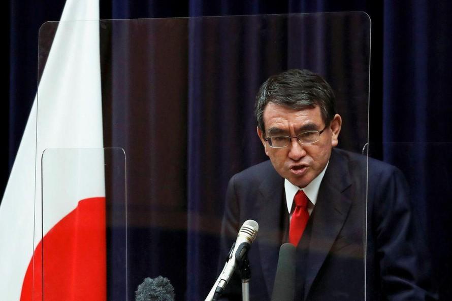 Giám đốc chương trình tiêm chủng của Nhật Bản Kono Taro có khả năng trở thành tân Thủ tướng. Ảnh: Reuters