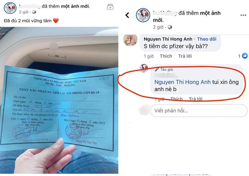 Xác minh cô gái khoe được tiêm hai mũi vaccine nhờ 'xin ông anh'