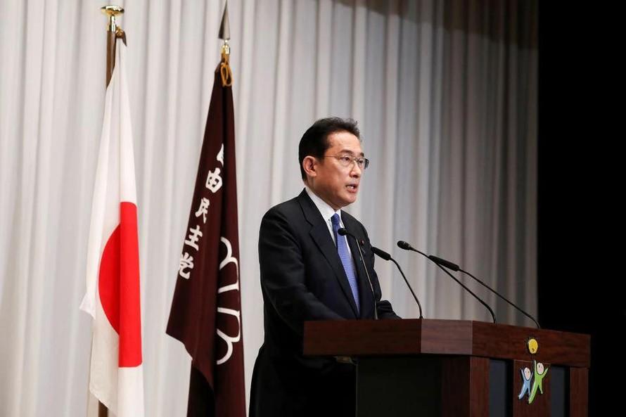 Chủ tịch đảng cầm quyền Dân chủ Tự do (LDP) Kishida Fumio. Ảnh: Reuters
